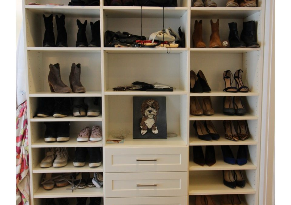 Shoe Shelves Provide Stylish Storage